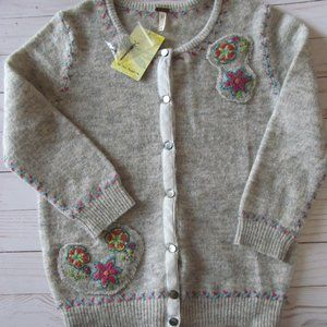 NWT Free People Embroidered Cardigan